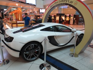Yes, of course there are cool cars at the duty free.....
