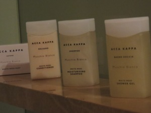yummy amenities.  I love amenities.  I never let TBG use them, though.