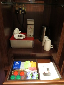 Coffee and tea service.... nice.
