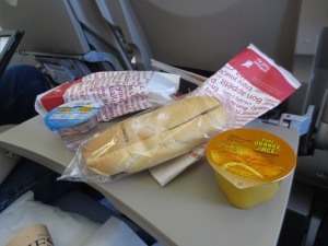 45-minute flight and we were served snacks.... not like the US!
